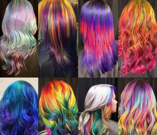 名画发色发型图片 Ursula Goff玩色彩搭配