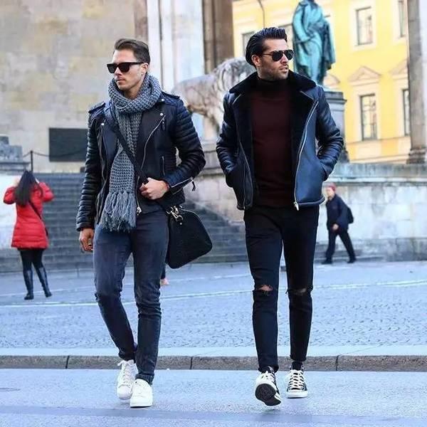 全球型男都在穿!不要说你的衣橱里还没有一件皮夹克!