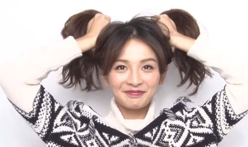 长发简单盘发图解 打造冬日优雅的ol发型