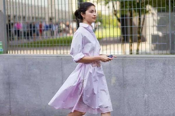 优雅率性的衬衫裙 撑起了这个时节该有的美貌