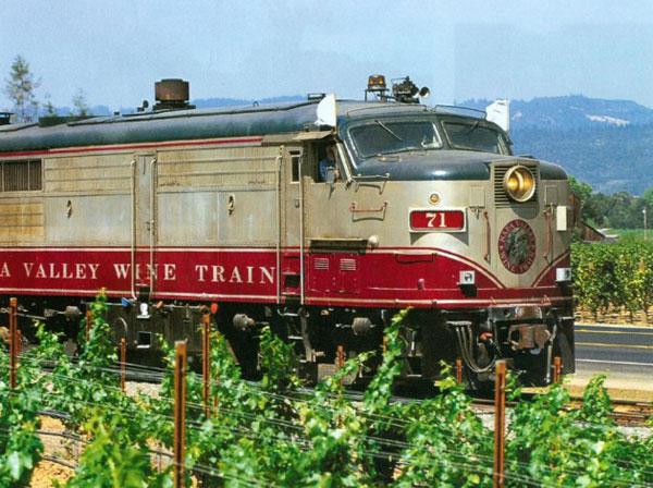 纳帕谷正式开通葡萄酒列车名庄专线